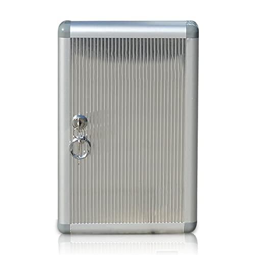JKMINSA Caja de gestión de Llaves de Aluminio, Caja de Seguridad para Armario de Llaves con Cerradura de 96 Ganchos Adecuada para Bienes raíces Oficina hogar