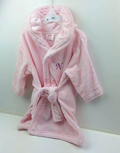personnalisé Rose brodée 12–18 mois bébé/enfant Chambre Cultivé Peignoir de bain (avant et arrière). Cadeau idéal.