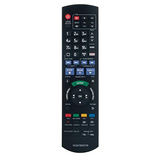 VINABTY N2QAYB000759 Ersatz für Fernbedienung für Panasonic DVD-Recorder DMR-BST820 DMR-BST720 DMR-BST721 DMR-BST835 DMRBCT730 DMRBCT820 DMRBCT720 DMRBCT721