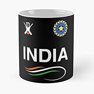 Indian Cricket Team T-shirt Fans Jersey Classic Mug - The Funny Coffee Mugs For Halloween, Holiday, Christmas Party Decoration 11 Ounce White Efixstore.
