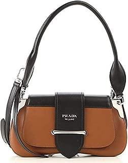 Women's Leather Sidonie Shoulder Handbag Brown Black