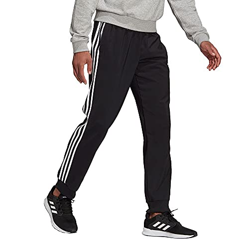 adidas Herren 3-Streifen Woven Hose, Black, L