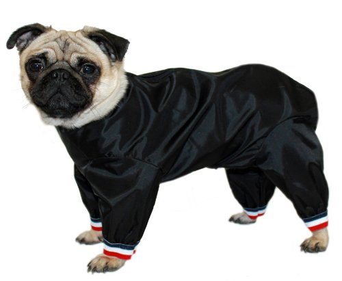 Cosipet Ltd. Pantalon de Costume pour Chien 1/2 Pattes 46 cm (Noir)