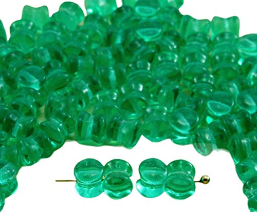 60pcs de Luz de Cristal de color Verde Esmeralda Claro PRECIOSA Bolita...