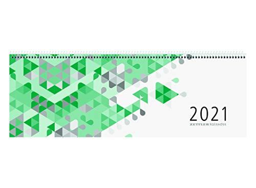 Zettler Kalender Querkalender 42x14,5cm 1W/2S grün