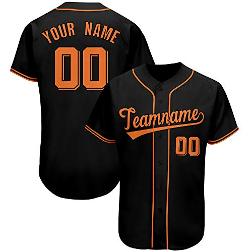 Custom Men Baseball Jersey Button Down Hip Hop Shirt Stitched Team Name & Number Big Size