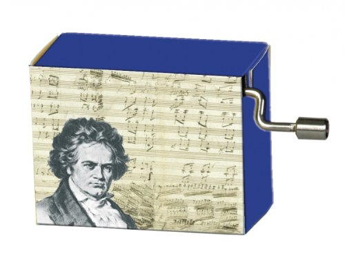 Fridolin 58161 Spieluhr Beethoven - Ode an die Freude / Portrait mit Noten