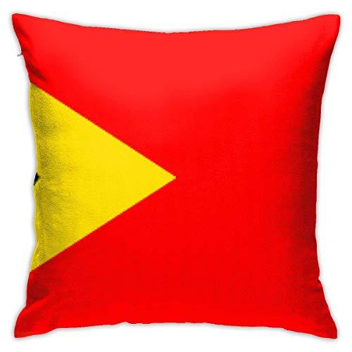 Kissenbezug, Motiv: Osttimor-Flagge, 45,7 x 45,7 cm