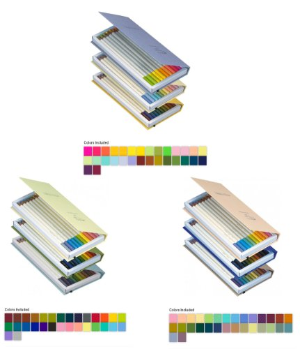 Tombow Irojiten Colorpencils with enamel finish - Pack of 3 Unique Sets - Rainforest, Seascape and Woodlands, Sold As 90 Colored Pencils per Pack