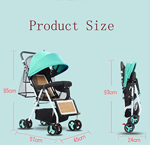 RAPLANC Baby stroller for 2020, Foldable stroller, Travel system, with extra storage space, four-wheel shock absorption, high view and stylish stroller,Blue RAPLANC Lightweight – A lightweight stroller makes any outing a little easier! The Convenience Stroller has a durable Aluminum frame that weighs just 9 pounds and has a large seat area, plus anti-shock front wheels and lockable rear wheels. 3-Position Recline – Keep your little one comfortable and safe at all times with the 3 position recline and 5 point safety harness. Compact Foldable Stroller – The easy compact fold with carry strap and auto lock makes it simple to store this lightweight umbrella stroller and bring it with you to go! Plus, the adjustable and removable canopy with flip out sun visor is perfect for sunny days. 3