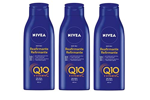 Nivea Q10 Triplo Body Milk Reafirmante Piel Seca  -  Pack de 3 x 400 ml