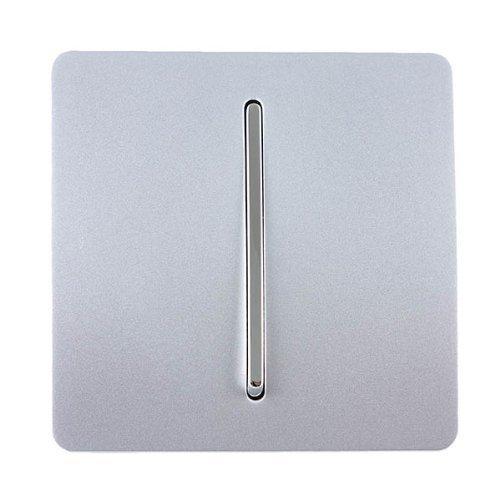 Trendi Artistic Art-DBSI - Interruptor de timbre retráctil para puerta, color plateado