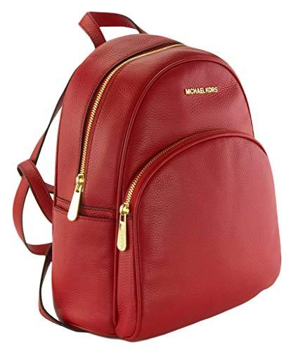 Michael Kors Abbey: Mochila  color Rojo  talla Medium: 26 cm Width x 31 Height 13.5 Depth