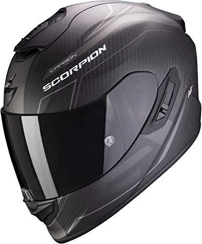 Scorpion Motorradhelm EXO-1400 AIR CARBON BEAUX Matt Black-Silver, Schwarz/Grau, L