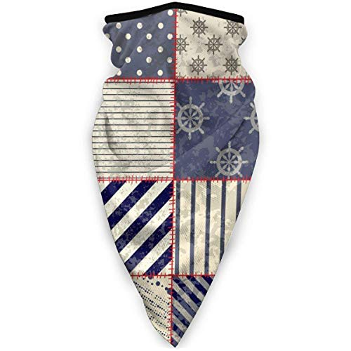 Not Applicable Face Cover,Nautical Maritime Nautical Anchor Vintage Sailor Unmatched for Ride Face Scarf,24x52cm