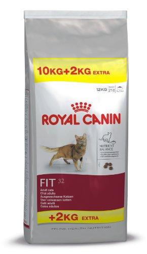 Royal Canin Katzenfutter Feline Fit 32, 10 + 2 kg gratis, 1er Pack (1 x 12 kg Packung)
