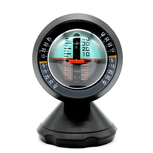 KKmoon Auto Fahrzeug Neigungsmesser Winkel Neigung Neigungsanzeige Level Meter Gradient Balancer Upgrade und Downgrade Slopemeter Finder Tool