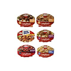 Total of 6 Count, 7.5-Ounce to 10-Ounce Microwavable Bowls. Hormel Beef Stew, Hormel Meatloaf & Gravy with Mashed Potatoes, 6 Flavors, 1 Unit Each Hormel Roast Beef & Gravy with Mashed Potatoes, Hormel Spaghetti & Meat Sauce, Hormel Chicken Alfredo, ...