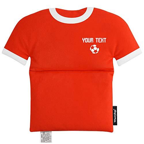 Wärmekissen in Form eines Sporttrikots, Rot – Fußball-Symbol