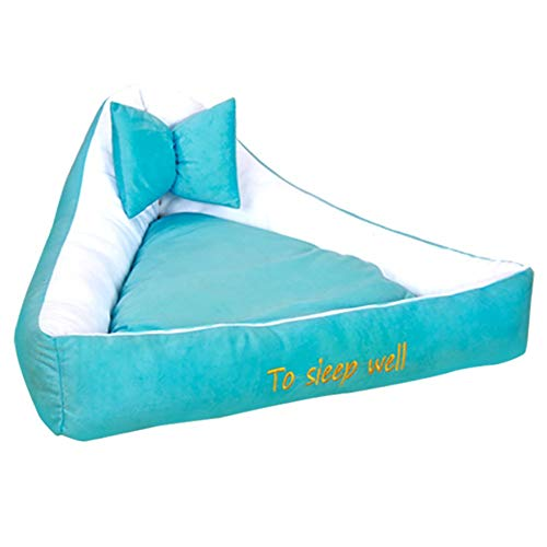 MxZas Gepersonaliseerde driehoek Elastic huisdier-nest pluche kat-hondenmand - Soft Comfy wasbaar kat hondenbed