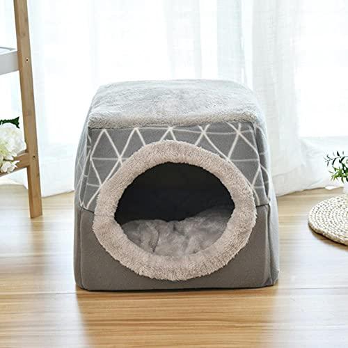 Cama cálida para mascotas y gatos, nido suave de doble uso, para cama de dormir para gatos, cálidas y acogedoras camas para perros pequeños, gatos y cachorros