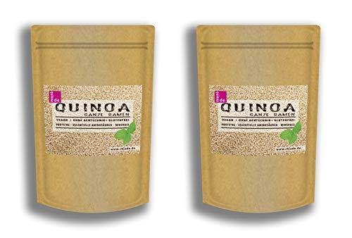 Quinoa DE Samen weiß 2kg (2 x 1kg) Ausgezeichnete Pflanzliche Proteinquelle