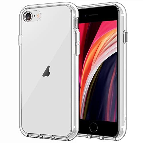 JETech Coque Compatible avec iPhone SE 2020, Housse de Protection Transparente Anti-Chocs et Anti-Rayures, HD Clair