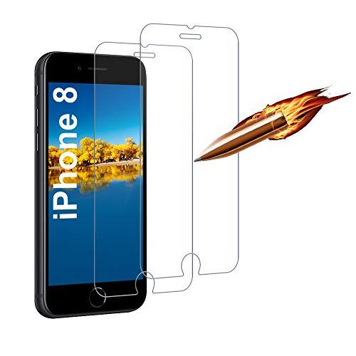 [2 Stück] Panzerglas Schutzfolie für iPhone 8/7/6/6s/SE 2020, Full Screen, Anti-Kratzen, Anti-Öl, Anti-Bläschen, 9H Super-Härte, Blasenfrei Panzerglasfolie für iPhone 8/7/6/6s/SE 2020