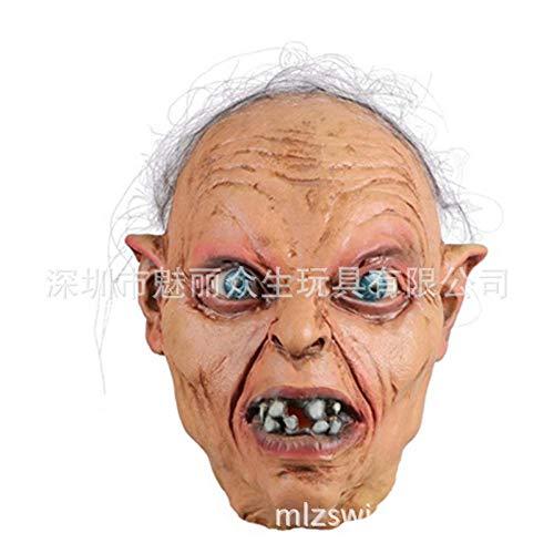 YBBGHH Herr der Ringe Grumm Maske Halloween Geist Festival Horror Grusel Zombie Kopfbedeckung Der Herr der Ringe - Gurumu Kopfbedeckung