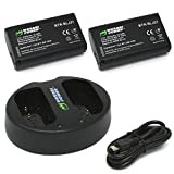 Wasabi Power Battery (2-Pack) and Dual USB Charger for Panasonic DMW-BLJ31 and Panasonic Lumix DC-S1, DC-S1H, DC-S1R