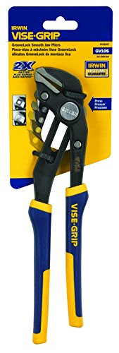 IRWIN Tools VISE-GRIP GrooveLock Pliers, Smooth Jaw, 10-inch (4935097)