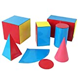 MYAMIA 6Pcs/Set Geométrico Superficie Superficie Expansión Modelo Cono Cilindro Pirámide Prisma Cuboid Cubo Forma Geométrica Modelo Matemática Juguete