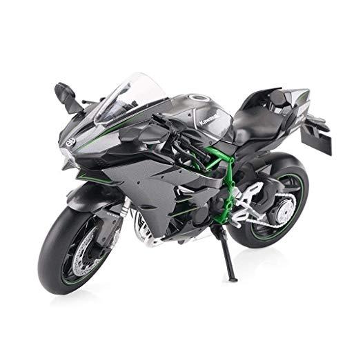 Fernbedienung Auto, Motorrad Modell 1:12 Road Lokomotive Simulation Motocross-Druckguss-Metall-Modell Rennfahrer...