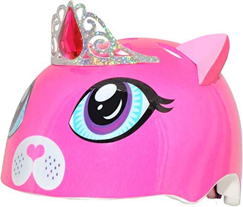 Raskullz 1210010-DKP-5 Girls Kitty Tiara Helmet, Dark Pink, Ages 5+