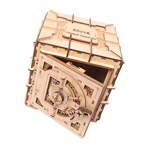 Sharplace DIY Holz 3D Puzzle Schatzkiste Spielzeug Basteln Holzpuzzle für Kinder