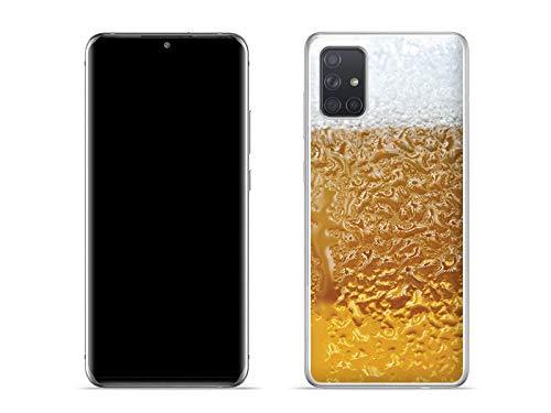 etuo Hülle für Samsung Galaxy A51 - Hülle Fantastic Hülle - Bier mit Schaum Handyhülle Schutzhülle Etui Hülle Cover Tasche für Handy