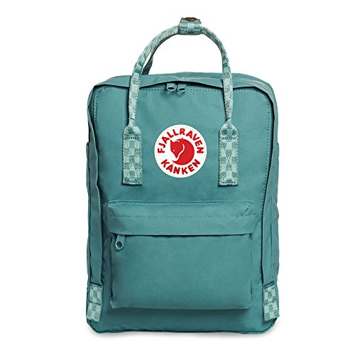 Fjallraven Kånken Laptop 13' Backpack, Unisex Adulto, Frost Green-Chess Pattern, OneSize