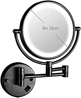 Vanity Mirror 360°Rotation Dual Sided USB Makeup Mirror LED Light 3X Magnification Wall-Mounted Mirrors for Shaving Lipstick Contact Lenses Beauty Tools OO (Color : D) (Color : C)