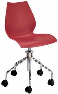 Kartell 28784M - Silla de Escritorio de Oficina, Color Rojo
