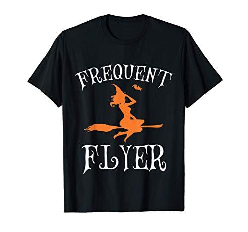 Disfraz de bruja genial de viajero frecuente Tee Camiseta