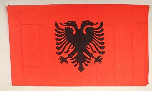 Albanie Drapeau Grand format aux intempéries 250 x 150 cm Drapeau Pays Drapeau Albanie drapeau