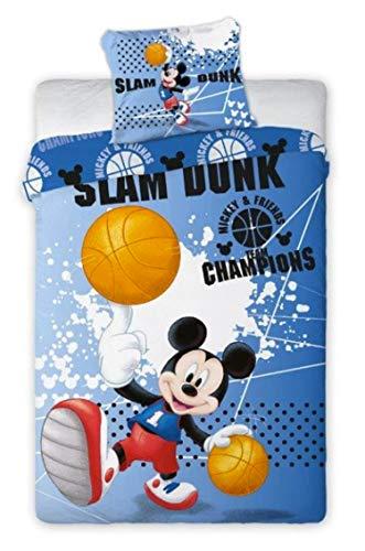 Mickey Disney Football - Juego de funda nórdica para cama individual