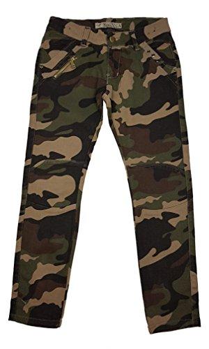 Unbekannt Tolle Mädchen Army Tarnhose, Camouflage Muster in Braun Camouflage, Gr 164, M8153.16