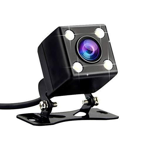 Auto Rückfahrkamera 170° Winkel 4 LED-Nachtsicht Parkkamera Auto Rückansicht Kamera