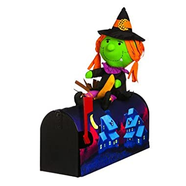 18  Witch on the broom Magnetic Mailbox Cover