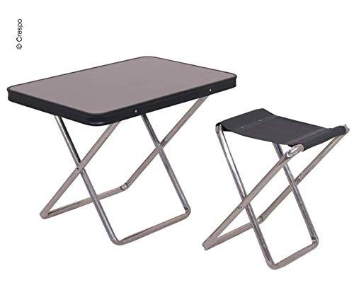 Crespo Campinghocker mit Tischplatte, anthrazit (9329926845)