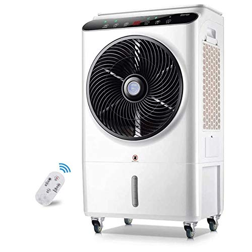 Luchtkoeler, Elektrische bureau ventilator, stille ventilator, Rotating Standing Fan, Operation Remote Touch, standaard/Sleep/Natural Wind, Perfect for thuis en op kantoor, JNWEIYU