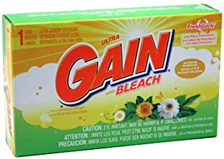 Gain With Bleach Powder Detergent Case of 156 1 Load Coin Vending Laundry Detergent