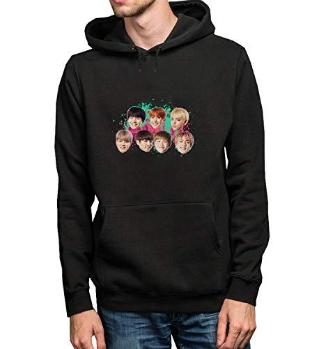 Kpop Mark Singer Got7_MRZ5437 Sudadera con capucha 100% algodón para hombres y mujeres, suéter de verano, regalo, casual unisex - negro - X-Large