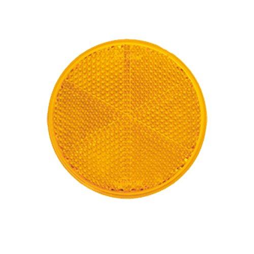 Reflektor / Katzenauge / Rückstrahler gelb 80 mm selbstklebend